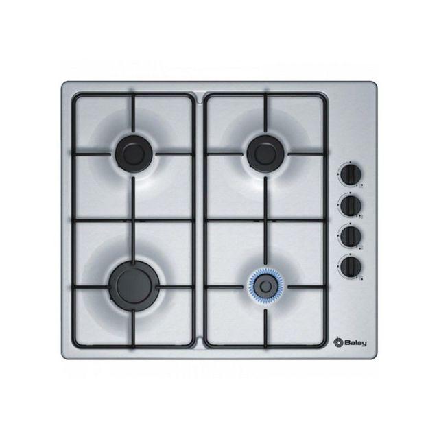 code promo cbab9 92158 Plaque au gaz 3ETX464MB 60 cm Acier inoxydable 4 cuisinière