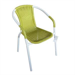 Alin a lysia fauteuil de jardin vert finition rotin - Chaise rotin alinea ...