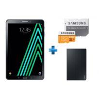 "Samsung - Galaxy Tab A6 - 10,1'' - 32 Go - Noir + Book Cover Galaxy Tab A 10.1"" 2016 - Noir + Carte Micro SDXC EVO - 32 Go - MP32GA/EU"