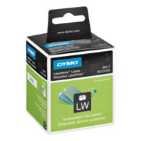 Dymo - Etiquettes dossiers suspendus 12 x 50 mm Lw330 turbo - Rouleau de 220