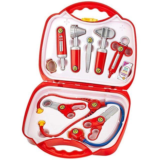 Klein Mallette docteur avec accessoires - 10 Accessoires - Jouet Enfant - Valise - Jeu Imitation