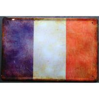 Universel - Plaque drapeau francais france tole metal patriote 30x20cm