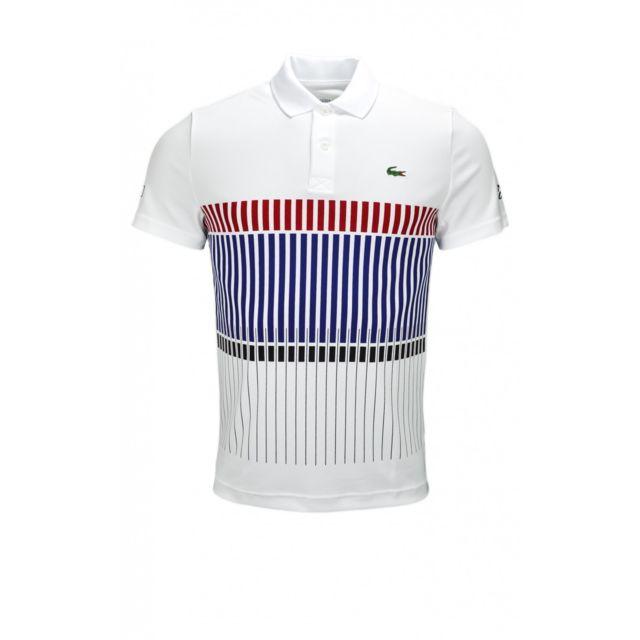 85655fab83a Lacoste - Polo Novak Djokovic blanc pour homme - pas cher Achat   Vente Polo  homme - RueDuCommerce