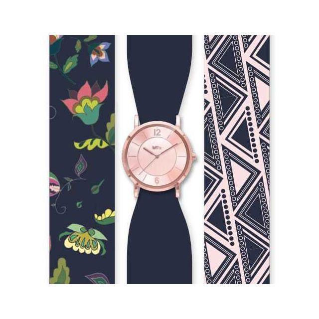 Bill'S Watch Montre Trend avec Bracelet foulard satin Pink - Bill's watches