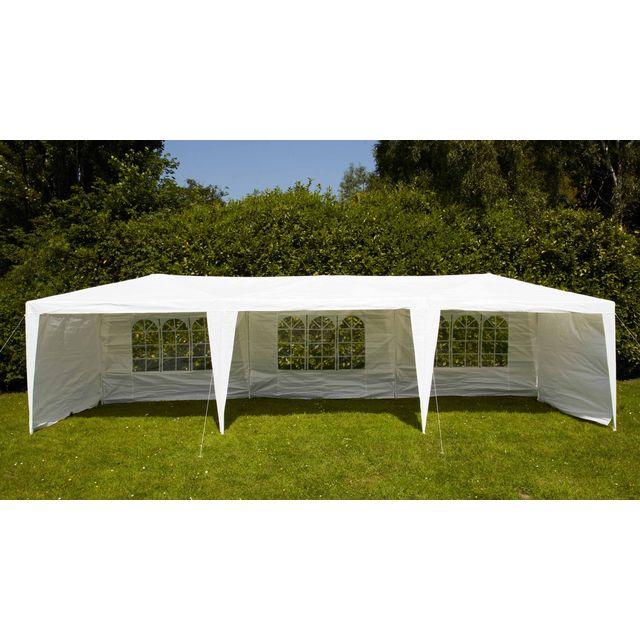 boutique jardin tente de r ception 3x9m 180gr m blanc pas cher achat vente tentes de. Black Bedroom Furniture Sets. Home Design Ideas