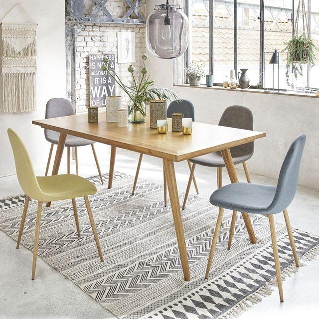 bois dessus bois dessous table en bois de mindy 6 8 couverts pas cher achat vente tables. Black Bedroom Furniture Sets. Home Design Ideas