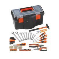 """Tood - Boite a outils 16"""" 42 cm avec 57 accessoires"""