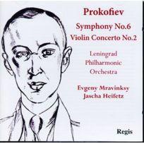 Regis - Prokofiev : Symphonie N° 6, Concerto Pour Violon N° 2. Heifetz, Mravinski Cd