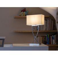 Beliani - Lampe - Lampe à poser - Lampe de chevet - Blanc - Yasuni