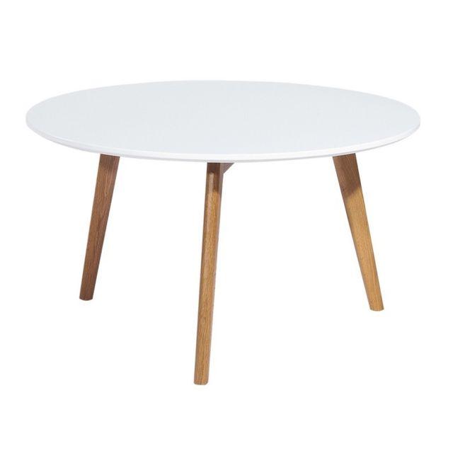 beaux meubles pas chers table basse ronde blanche 3 pieds ch ne pas cher achat vente. Black Bedroom Furniture Sets. Home Design Ideas