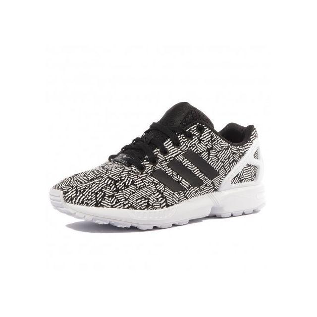 Adidas originals - Zx Flux Femme Chaussures Blanc Noir Adidas 40 2/3 - pas cher Achat / Vente Baskets homme - RueDuCommerce