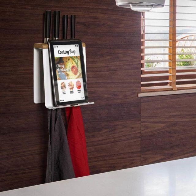 Empasa Porte Livre de Recette et Support pour Ustensiles de Cuisine Cookie - Blanc