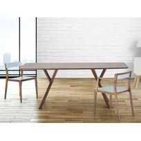 Beliani - Table de salle à manger - table de cuisine - 180 cm - noyer - Lisala