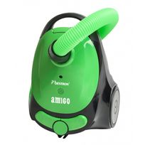 Bestron - Aspirateur traineau Amigo vert avec sac - Compact - Silencieux