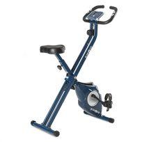 KLARFIT - Azura Vélo d'appartement en X de 3 kg charge 100 kg max pulsomètre ? bleu
