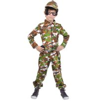 Ludendo - Déguisement Militaire - Enfant - Taille : 8/10 ans 126 à 138 cm