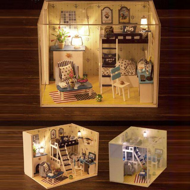 Generic Diy 3D Dollhouse Paper Miniature Furniture Kit Kids Gift