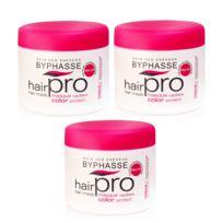 Byphasse - Lot de 3 - Masque capillaire Color Protect Hair Pro - Cheveux Colorés - 500 ml