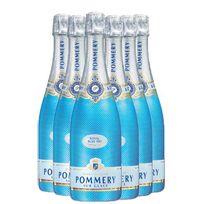Champagne Pommery - Royal Blue Sky Lot de 6 Bouteilles