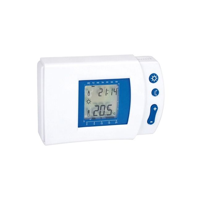 thermostat d 39 ambiance digital programmable pas cher achat vente thermostat rueducommerce. Black Bedroom Furniture Sets. Home Design Ideas