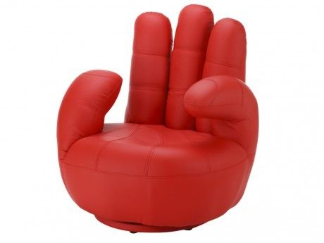 Vente-unique Fauteuil main pivotant Catchy en simili - Rouge