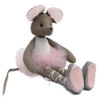 Sevira Kids - Poupée en tissu fait-main - Ballerine Souris - Tutu Rose