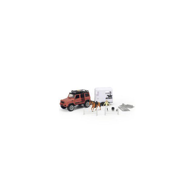 Simba Dickie Toys Playlife - Coffret Véhicule et remorque à cheval