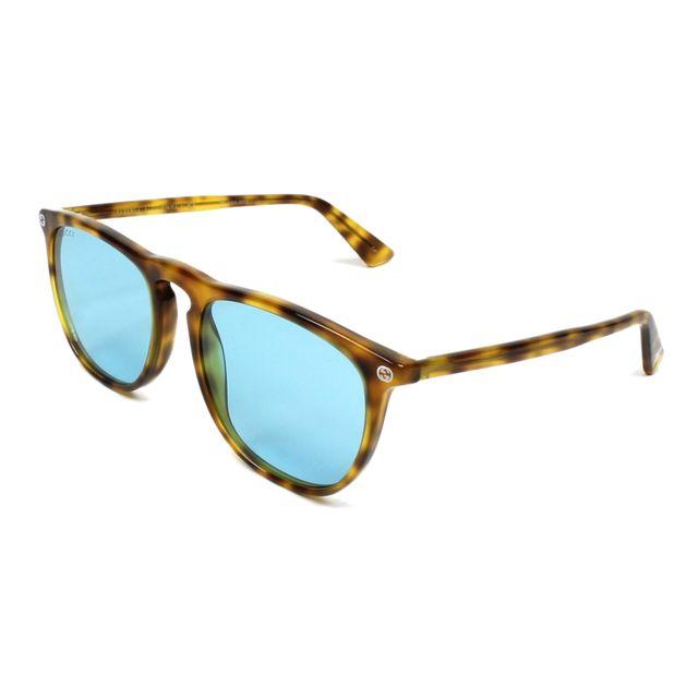 Gucci - Gg-0120-S 003 Havane - Lunettes de soleil - pas cher Achat   Vente  Lunettes Tendance - RueDuCommerce b0609558948d