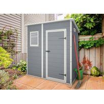 Keter - Abri de jardin en résine Premium 64 monopente gris