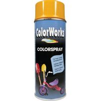 Colorworks - Peinture aérosol brillante Jaune-Or - 400 ml