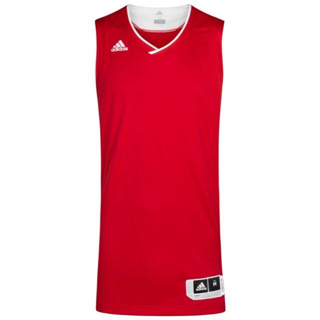 Adidas Maillot basketball rougeblanc homme Ekit