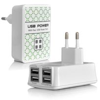 Karylax - Chargeur Secteur 4 ports Usb pour Tablette Acer Iconia One A3-A40, Acer iconia One 10, Acer Iconia One 7, One 8