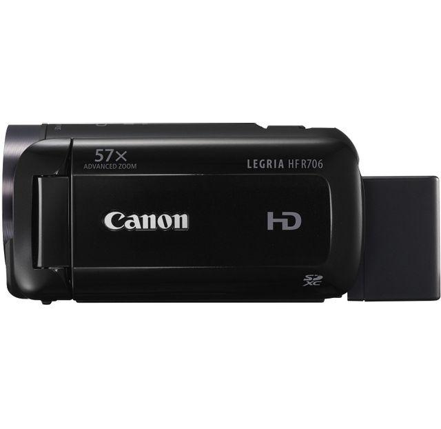 CANON Caméra - Legria HF R706 noir Full HD 1080 - Advanced Zoom - Zoom 57x -Écran LCD tactile de 7,5 cm -Stabilisateur d'image intelligent