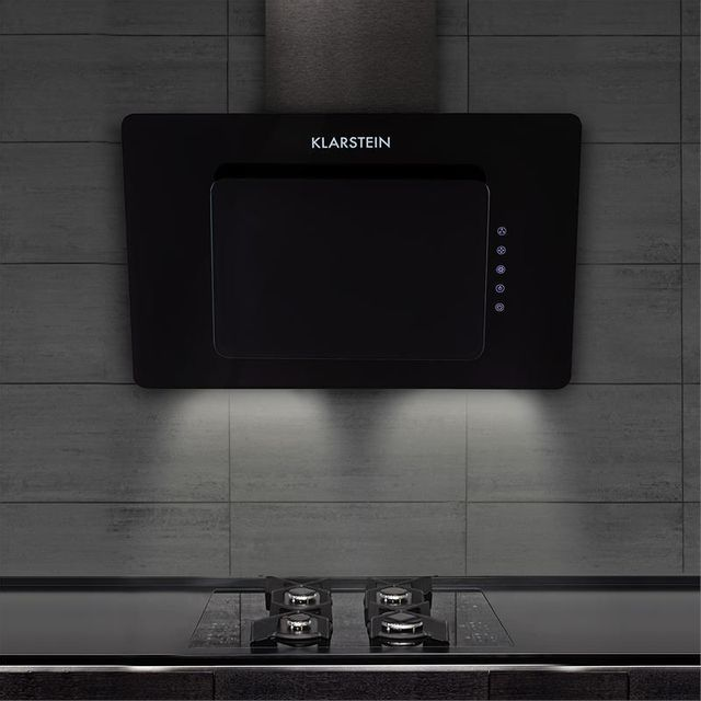 KLARSTEIN - Lorea Hotte aspirante Hotte murale 65W 60cm 270m³/h Touch verre noir