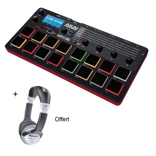 Akai - Pack Mpx 16 - Lecteur enregistreur de sample + Casque Offert