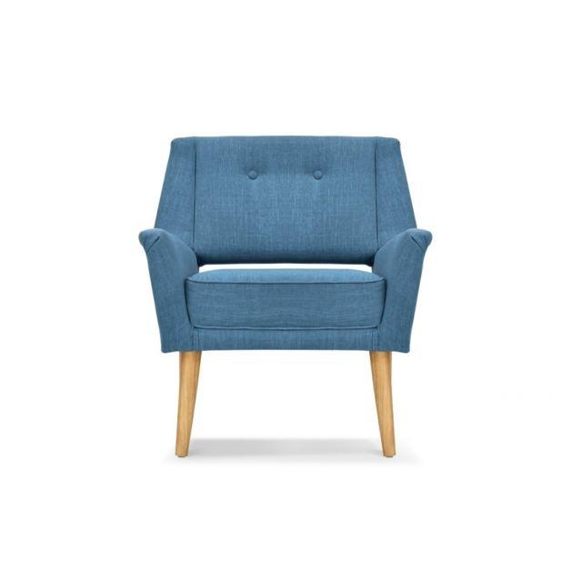 Remarquable Fauteuil design rétro bleu canard