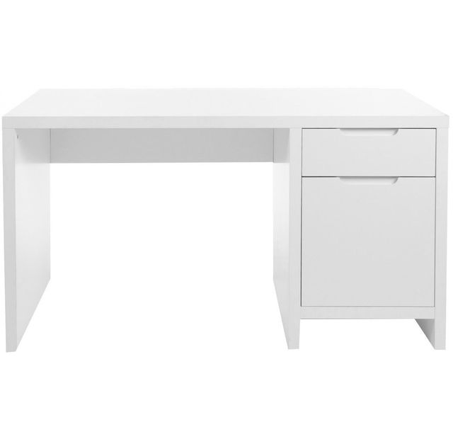 comforium bureau enfant coloris blanc design moderne 140cm x 75cm pas cher achat vente. Black Bedroom Furniture Sets. Home Design Ideas