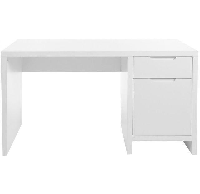 Comforium Bureau Enfant Coloris Blanc Design Moderne 140cm X 75cm