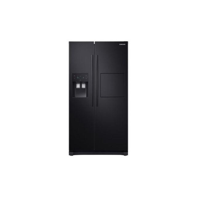Samsung Rs50n3803bc-refrigerateur Americain-501 L 357 + 144 L-froid Ventile-a+-l 91,2 X H 178,9 Cm-noir Carbone