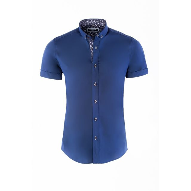 fefe12ce705d Carisma - Chemises manches courtes homme 9094 Bleu Marine - pas cher Achat    Vente Chemise homme - RueDuCommerce