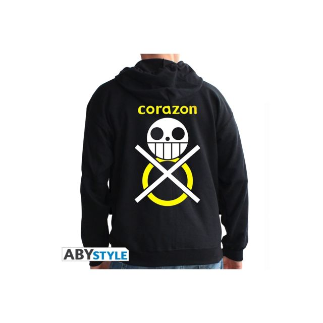 Abystyle One Piece - Sweat homme black Corazon
