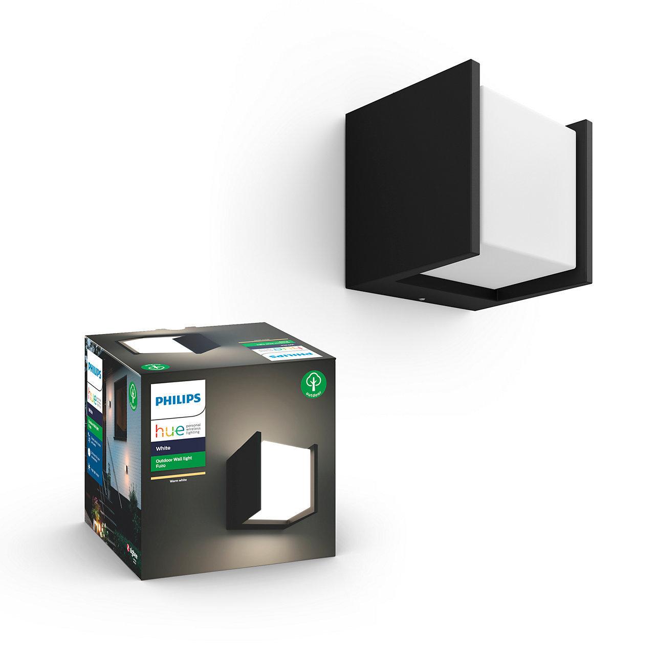 White FUZO - Applique extérieure carré - Noir