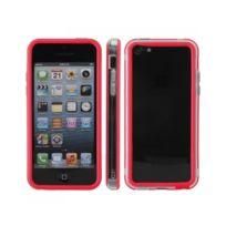Kabiloo - Contour Bumper Rouge iPhone 5C avec boutons gris métal