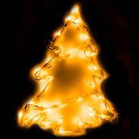 Provence Outillage - Éclairage figurine de fenêtre 35 ampoules Sapin