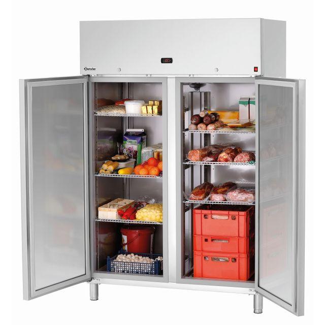 Bartscher Armoire frigorifique double pour grilles Gn 2/1
