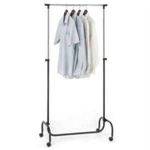 idimex portant penderie tiger hauteur r glable noir pas cher achat vente porte manteau. Black Bedroom Furniture Sets. Home Design Ideas
