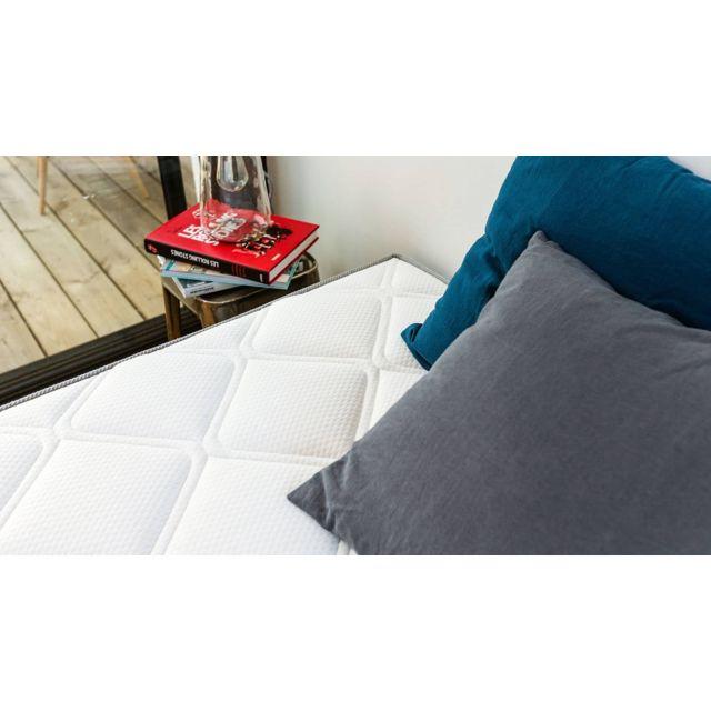 HBEDDING - Matelas mémoire de forme 140x190 Memo Luxe - Mousse ergonomique haute densité et Visco-élastique 140cm x 190cm