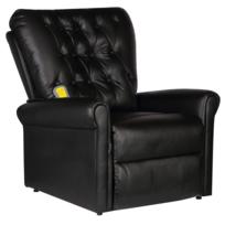 Justdeco - Superbe Fauteuil de massage électrique inclinable en cuir artificiel noir Neuf