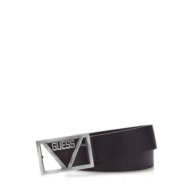 ded4228e9465 Guess - Ceinture Homme Metal Logo Placket Noir - pas cher Achat   Vente  Ceinture homme - RueDuCommerce
