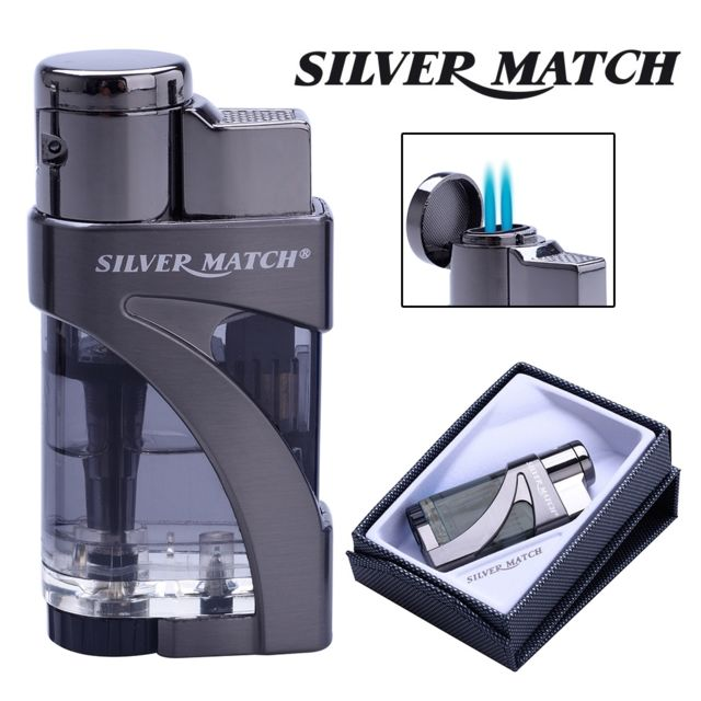 Silver Match Briquet chalumeau Fairlop silvermatch Gris